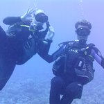 my husband with Alex, our dive master. He rocked!!!!