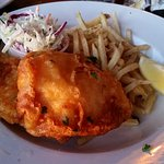 Awesome Fish n Chips with natural cut fries. Slaw is barely dressed but crisp and fresh.