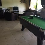 Pool table and TV room