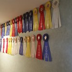 My wall of baking ribbons