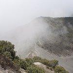 clouds in crater