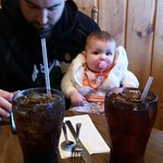 Dinner with Papa and my great grand baby