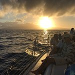 It is a sunset cruise, after all. Looking towards Lanai.
