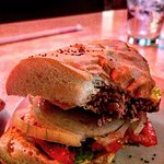 Rotier's famous cheeseburger on French bread.