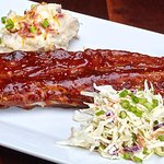 Full Rack of BBQ Ribs with house-made coleslaw and garlic mashed potatoes