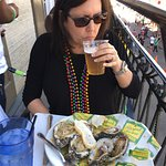 Start of a great meal, charbroiled oysters and Abita beer