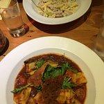 Very tasty Ravioli & Carbonara