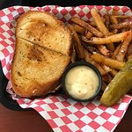 Lobster grilled cheese  Mac and cheese sampler Park grilled cheese with disco fries