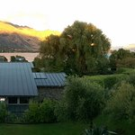 Looking over town to the lake from Wanaka Hotel room