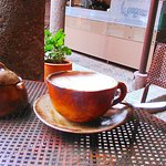 Hot cocoa served in the Courtyard