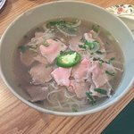 DELICIOUS! Six different rolls and the rare beef Pho