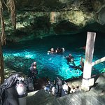 entrance to Dos Ojos Cenote, diving with La Calypso Dive Center