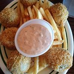 Boudin balls with fries