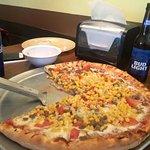 Beer, sausage, cheese, sliced tomato and corn. MMMMmmmm GOOD!