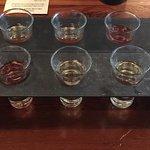 Deluxe Sake Flight (two sets) & menu