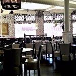Restaurant interior facing Main Street