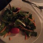 Half eaten garden salad