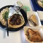 Beef shawarma platter & Baklavas