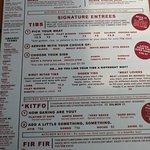 The menu looks like an infographic.
