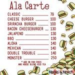 Ala Carte Price List