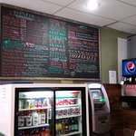 Great variety of burgers, chili and shakes