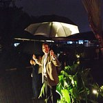 Hilton Bandung Team welcoming 200 guests under the rain