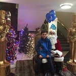 Santa in the Front Lobby