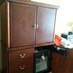 Room 1726 Cabinet with TV
