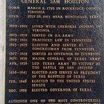 Accomplishments by Sam Houston