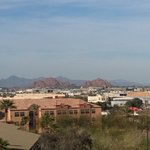 view of the buttes in Tempe from our balcony