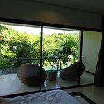 Balcony on Master Bedroom overlooking resort pool