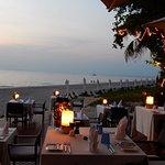 Nachtessen am Strand