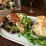 Goat's Cheese parcel and salad
