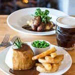 Our famous Steak and Ale pudding