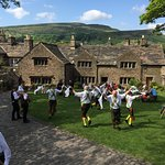 Morris dancing on the lawn