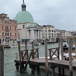 The hotel is three buildings up from the Domed church. Ideal situation for a holiday in Venice.