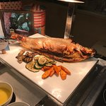 The roasted Salmon