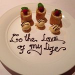 Special touch on the dessert :)