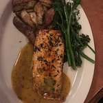 The citrus salmon with broccollini and potatoes was great!