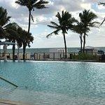 Infinite pool overlooking beach