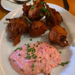 Butternut squash, bacon, and apple fritters