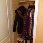 Closet w/safe; pool towels above
