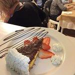 Cheesecake alle fragole presentato dallo Chef Caddia Domenico