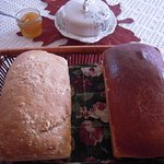 loaves of sewdish and toasted oatmeal bread