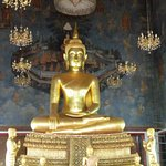 Seated Buddha inside Wat Ratchanatdaram temple