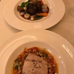 Lamb shank and Snapper with white beans