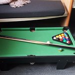 mini pool table in The billiards lodge