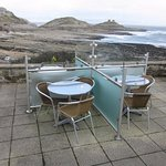 Patio overlooking The Mumbles