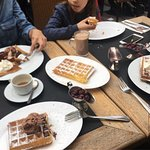Our favourite place for Brussels waffles! Super light, melt-in-your-mouth-amazing combinations,