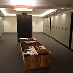 Ski room. Each room has its own cabinet with boot warmers